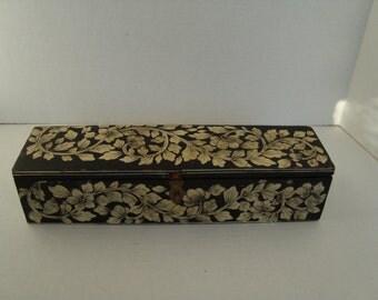 Pretty Vintage Wooden Dresser Box