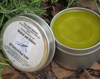 Repel and Relieve Bug Balm...Long Lasting, Mosquito Repelling, Skin Loving, All Natural Herbal Goodness, 4 oz Tin