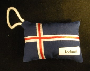 Iceland Flag Puffy Ornament or Decoration