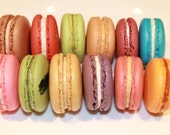 6 Flavor Assortment French Macarons - 12 Cookies