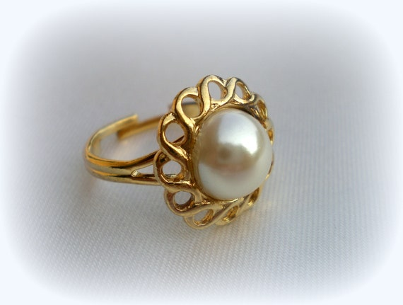 75 sale pearl ring cheap ring june birthstone ring vintage