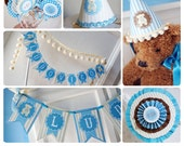 Vintage Teddy Bear Party Kit - for Baby Shower, Baptism or Birthday - Printable Party - PDF