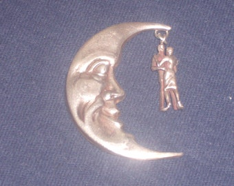 STERLING Dancing in the moonlight Brooch
