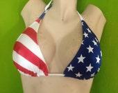 Sexy American flag bikini TOP, JUST TOP