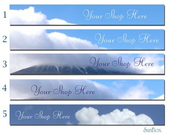 Your Shop Banner. Summer Clouds Blue Sky.
