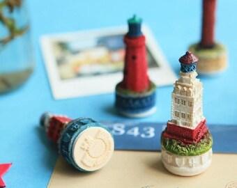 Resin Castle Stamp Set - Rubber Stamp - Vintage Stamp  - 6 styles in
