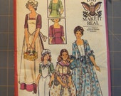 Vintage 1776 make it real butterick Misses DollyMadison Dress Pattern