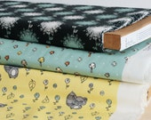 one metre of birch fabrics' organic cotton 'scamper' collection in Mushroom Dot
