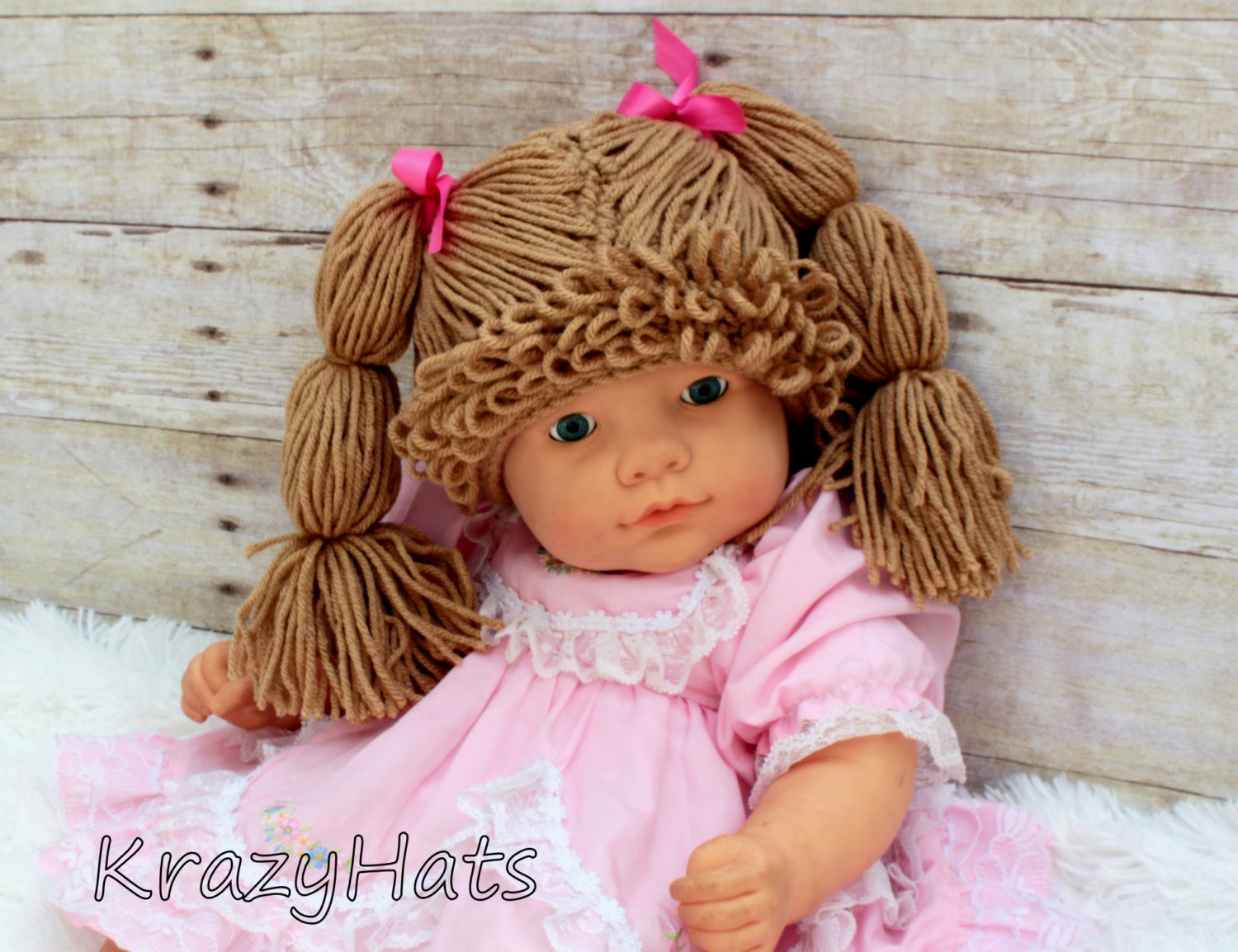 Crochet Pattern For Cabbage Patch Baby Hat ~ SquareOne for .