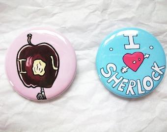 Sherlock 1.5 Inch Button Set