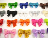 """1.75"""" Sequin Bow Appliques - Assorted Color - 26 Colors Available - Your Choose Color - Sequin Bows - Hair AccessoriesSupplies"""