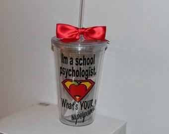 School Psychologist Gift - Psychologist Gift - Personalized Psychologist Gift - School Psychologist - Psychologist Cup Personalized