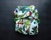 READY TO SHIP: Funky Firs All In One One Size Cloth Diaper