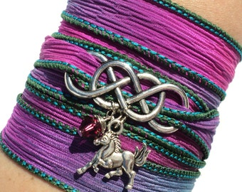 Infinity Silk Wrap Bracelet Horse Jewelry Equestrian Eternity Love Unique Gift For Her Mothers Day Daughter Under 50 Item A46