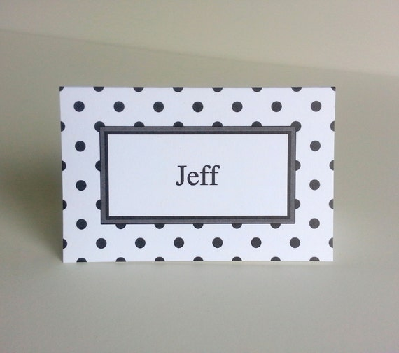 Tent Style Paper Place Cards Set Of 10 Polka Dot Patterned. Weekly Meal Planner Template. Federal Grants For Graduate School. Work Order Template Word. Football Player Profile Template. Who Knows Mommy Best Questions. Diaper Raffle Tickets Template. Help Wanted Sign. University Of Utah Graduation