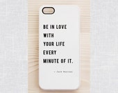 White quote iPhone 6 case, iPhone 4 / 4S case, Samsung Galaxy S5 / S3 case. Jack Kerouac's inspirational quote
