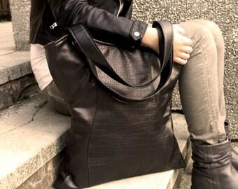 "SALE Design leather bag ""Leather Corset"", leather oversized bag, leather tote bag, everyday bag, shoulder handbags, minimalist leather"