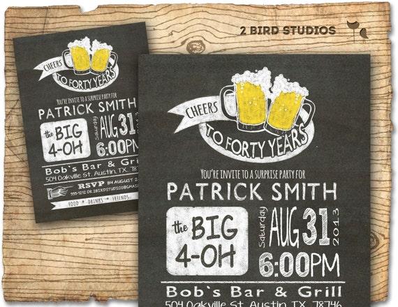 30th birthday invitation beer birthday party invitations, Birthday invitations