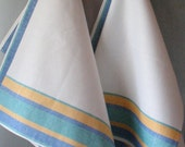 Linen Cotton Dish Towels - Tea Towels set of 2