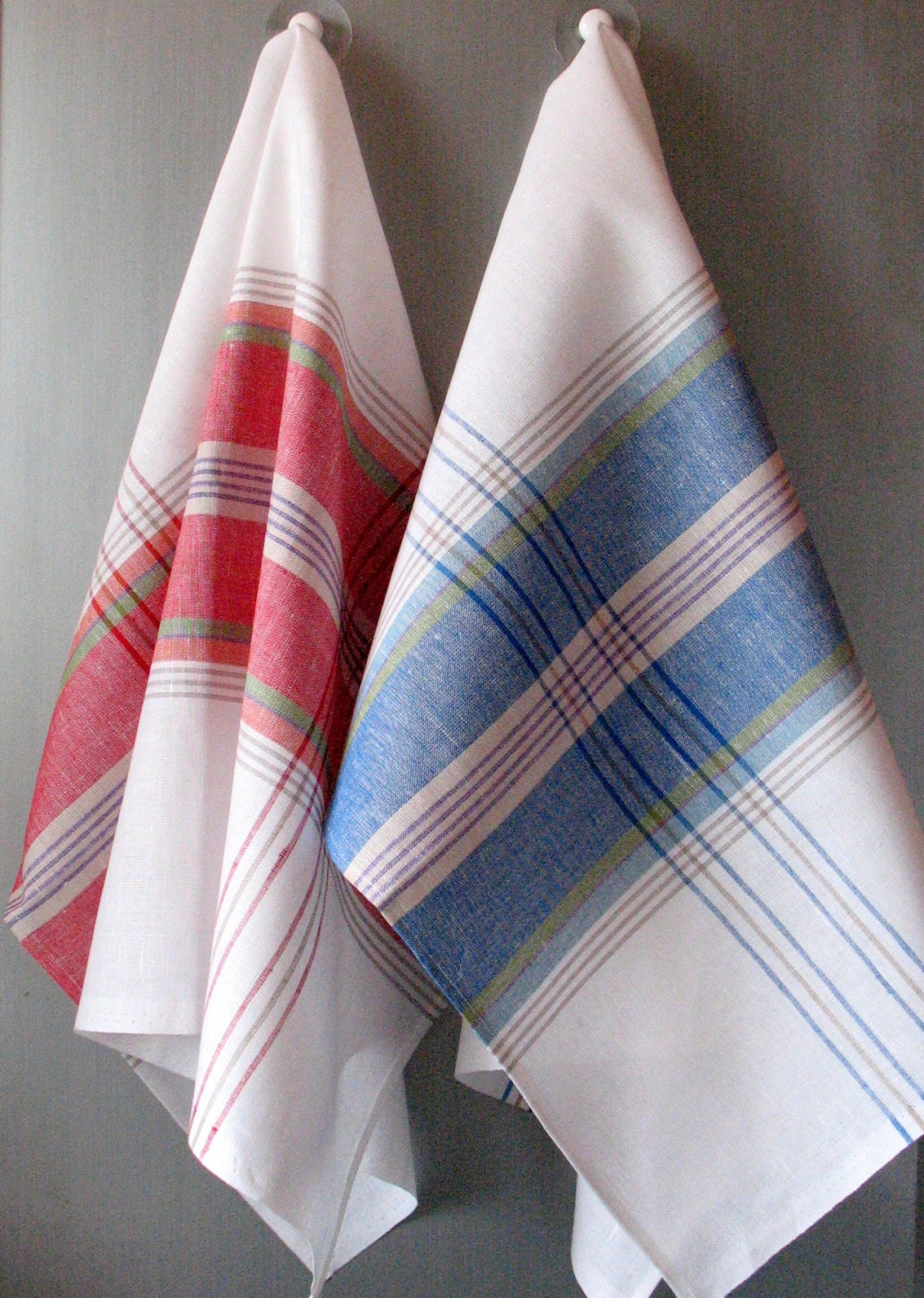 linen cotton dish towels red blue white green tea by. Black Bedroom Furniture Sets. Home Design Ideas