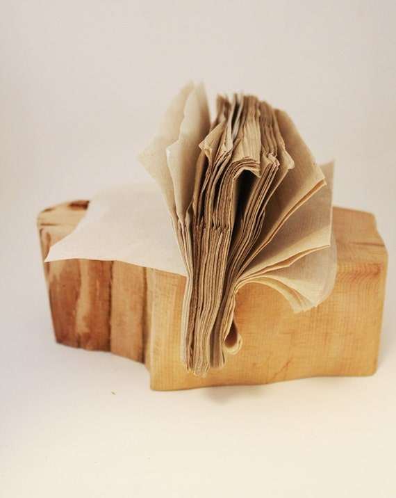 Rustic Dining Tabletop - Wood Napkin Holder - Tabletop Napkin Holder