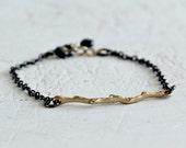 Black And Gold Branch Bra...