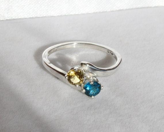 Etsy Neon Blue Tourmaline Ring
