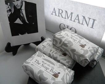 Armani Gio Men Soap / Armani Acqua di gio men fragrance Oil Type Soap / Designer cologne soap