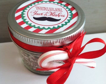 Hot Chocolate Mason Jar Christmas Party Favor- Teacher Appreciation Gifts or Rustic Wedding Favors