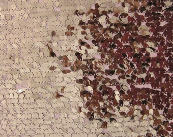 """Drop Sequin Fabric - PEACH - Sold By The Yard 50"""" Width"""