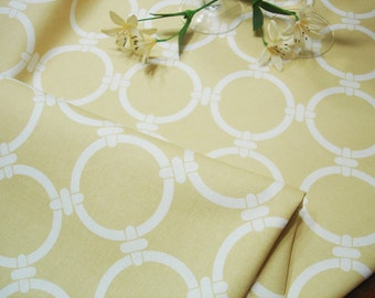 """Yellow  Table Runner - Wedding - 13"""" X 52"""" Table Cloth - Decorative Bridal  Table Runner .  Fabric Runner .  """" Moroccan  Tile"""""""