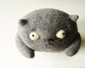 Cat Lars. Plush toy upcycled.