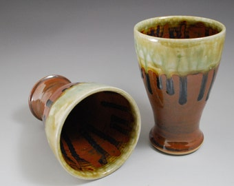 Tumbler: Jade and Chocolate Glazes