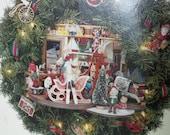 "Diorama Christmas wreath insert kit for 24"" wreath"