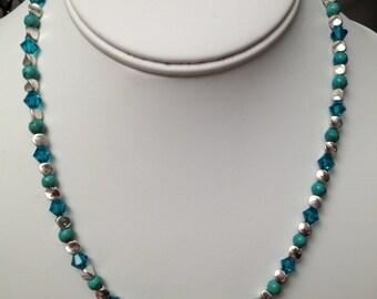 Turquoise and Swarovski Necklace