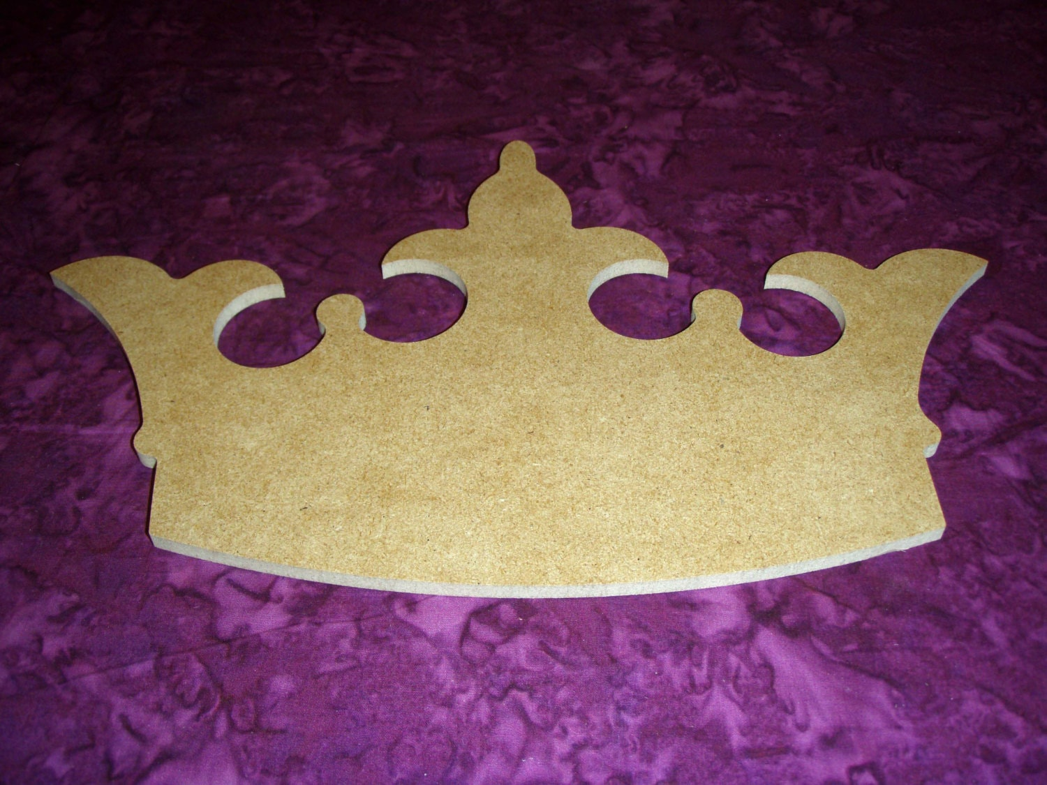 Princess Crown Shape Wood Cut Out Wooden By