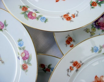 Noritake Handpainted Tea Plates, Set of 8