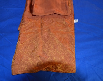 ON SALE  Lovely Shawl in Burnt Orange Made in Vietnam
