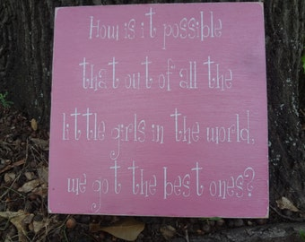Little Girls Hand Painted Signs