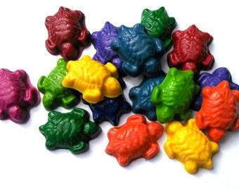 Crayons Little Turtles - Set of 6 / Kids Party Favors / Goodie Bags / Fun Unique Eco Friendly