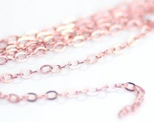 Rose Gold Chain by the Foot, 14K Rose Gold Filled, Unfinished Bulk Chain, 1.6mm Links, Choose Length, RGF-10