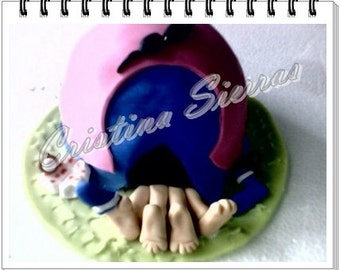 """OOAK Handmade Cake topper """"Love and a Hut"""" made by Cristina Sierras"""