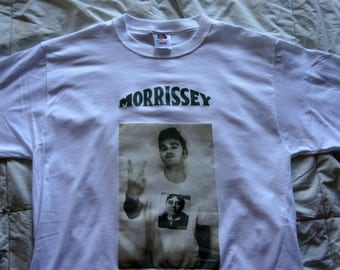 "Morrissey ""Smiths is Dead"" tshirt size- medium color- white"