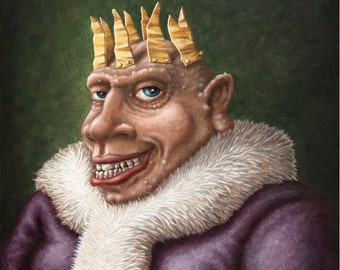 Lowbrow Pop surrealism limited edition art print by Pete Gorski titled: The King