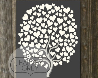Printable Wedding Guest Book Poster / Guestbook Wedding Tree Signature Print Instant Download Printable - Last Minute Wedding Guestbook Art