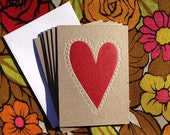 Set of 6 Valentine's Heart Cards