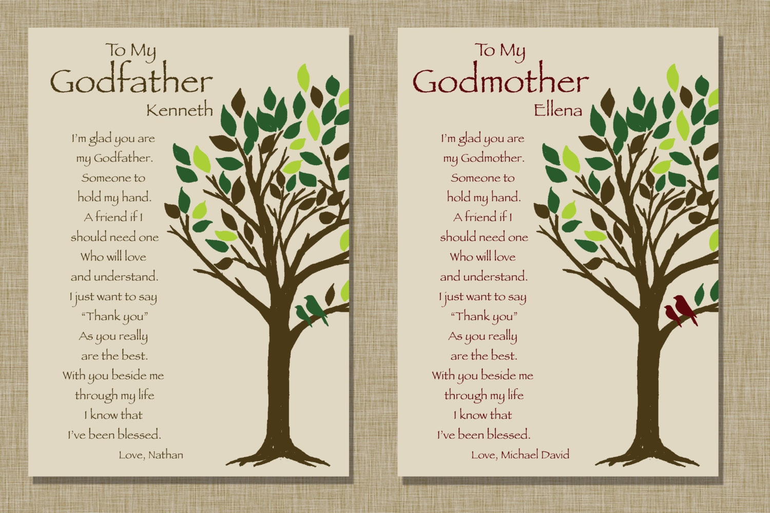Godparents gift Personalized gift for Godmother and