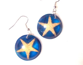 Starfish Ocean Resin Earrings (E33)