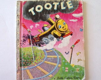 """My Little Golden Book """"Tootle"""" a Book about a Train"""