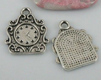 12pcs tibetan silver color clock charms EF0510